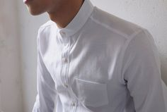 Mandarin collar - White shirt