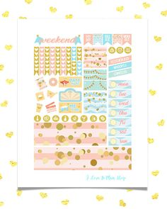 50% OFF SALE/ BIRTHDAY Printable Planner Stickers for use w/
