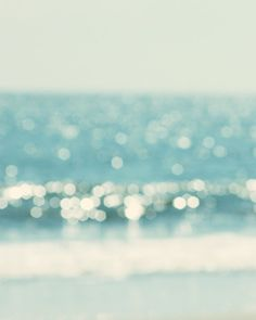 ocean print beach photography abstract blue water bokeh turquoise aqua beach cottage decor print from TheGinghamOwl on Etsy. Nautical Wall Decor, Coastal Wall Art, Beach Wall Art, Coastal Decor, Beach Canvas, Nautical Art, Canvas Art, Plage Art Mural, Art Plage