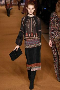 Etro / Fall 2014 / RTW Collection / High Fashion / Ethnic & Oriental / Carpet & Kilim & Tiles & Prints & Embroidery Inspiration /