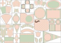 Mint, Pink, Stripes and Polka Dots: First Communion Free Printable Kit. Pink Stripes, Polka Dots, Imprimibles Baby Shower, Comic Party, Beatles Party, Dots Free, Oh My Fiesta, How To Make Box, Cupcake Party
