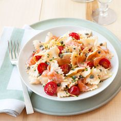 Cold-smoked salmon and a lemony cream cheese mixture with some bowtie pasta makes a simple-but-delicious dinner. #recipes