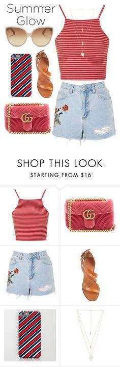 """summer outfit"" by aletraghetti on Polyvore featuring moda, Topshop, Gucci, Chloé, Natalie B y Linda Farrow"