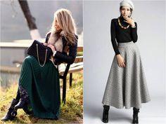 Актуальные зимние модели юбок
