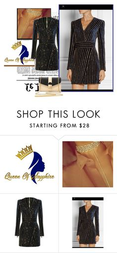"""Queen of sapphire 1"" by emily-5555 ❤ liked on Polyvore"