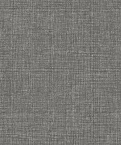 CHARCOAL BLACK WOVEN LINEN Wallpaper Cross Hatch Weave Faux Texture Black Textured Charcoal