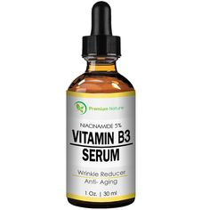Vitamin B3 Facial Serum, Niacinamide 5%, 1oz cream - Pore Tightener, Wrinkle Reducer, and Collagen Booster for Anti-Aging, By Premium Nature -- Details can be found by clicking on the image.
