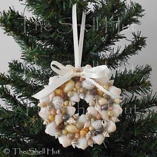 Seashell Christmas Ornament Colorful Wreath REAL Shell Tropical Beach Doll House
