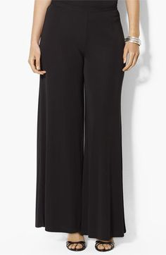 Lauren Ralph Lauren Matte Trouser Pants (Plus) available at Nordstrom