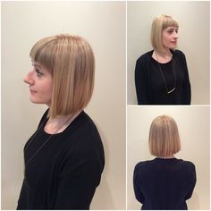 Blunt cut and foils done by @rianahowarth #manulifeplace #headlinessalon #greatday #yeg #yegdt #yeggers #yegsalon #ExclusivelyEdmonton #edmonton #beauty #hair #foils #aveda #avedastylist #hairstyle #haircut