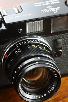 M4, my other classic film Leica with the 50mm Summicron, a gem