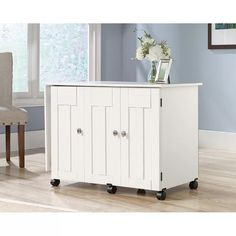 Sauder Sewing Craft Cart in Soft White Diy Craft Table craft armoire with fold out table diy Sewing Craft Table, Sewing Desk, Sewing Cabinet, Craft Desk, Sewing Crafts, Sewing Box, Sewing Projects, Craft Rooms, Craft Space