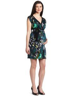 Three Seasons Maternity Women`s Cap Sleeve Surplice Dress $44.00