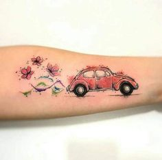 Mundo Hippie ॐ ( Ems Tattoos, Great Tattoos, Future Tattoos, Temporary Tattoos, Body Art Tattoos, Tatoos, Vw Tattoo, Beetle Tattoo, Tattoo Trend