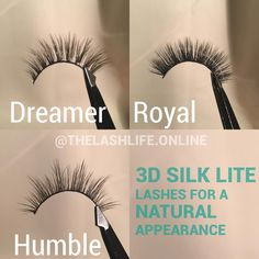 ✨Dreamer• ✨Royal•✨Humble• are some of our Natural looking lashes • Free Shipping on orders over $15 🌍 www.thelashlife.online (link in bio)