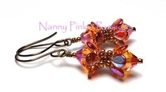 Tutorial Pipsqueak Earrings 2 Ways by NannyPinksPassion on Etsy