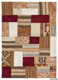 Oversize Kilim Rugs Overdyed Vintage Hand Made Turkish Patchwork