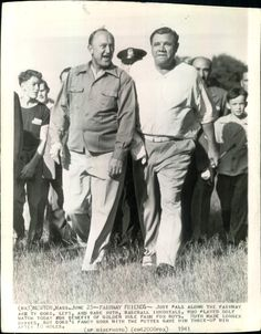 July Ty Cobb and Babe Ruth meet in Newton, Mass, in another charity tournament for the benefit of the Golden Rule Farm for boys, which Cobb would win. Baseball Classic, Baseball Star, Baseball Players, Baseball Cards, Football, Babe Ruth, Ruth 1, Detroit Sports, Detroit Tigers