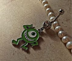 Mike Wazowski on Belly Ring Monsters Inc Body Jewelry