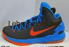 new product 87b65 e46a5 kevin durant shoes 2013 Nike KD V Black Photo Blue Team Orange 554988 048