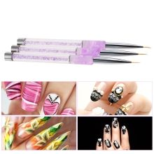 Nail Art Painting Line Brush 7mm Acrylic Nail Art Liner Brush Draw Line Brush Nylon Hair Manicure Nail Liner Pen