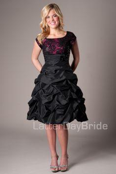 Melody -Modest Mormon LDS Prom Dress