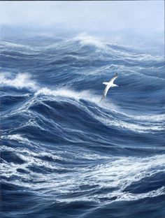 All images are the original artwork of nature artist and wildlife artist Dr. Jeremy Paul and are protected by international copyright laws. Ocean Scenes, Beach Scenes, Seascape Paintings, Landscape Paintings, Wildlife Paintings, Stürmische See, Ocean Pictures, Nature Artists, Water Art