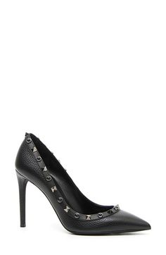 Free shipping and returns on Valentino 'Rockstud Rolling' Pump at Nordstrom.com. A slim stiletto heel lifts a svelte pointy-toe pump traced with an array of glossy cabochons and polished rockstuds.