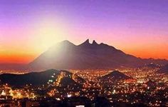 Monterrey , Mexico  This is how I always picture this in my mind, I always seemed to pull in to the city at dusk and see those lights, glorious lights...