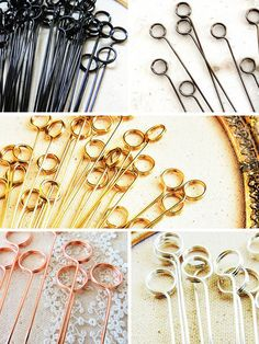 Wire table number holder diy swirl round stems pick photo flat table number holder wire metal card holders cake photo topper greentooth Gallery