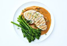 Sund aftensmad på max 30 minutter   Iform.dk Keto Chicken, Healthy Chicken Recipes, Mashed Sweet Potatoes, Green Beans, Nutrition, Stuffed Peppers, Dishes, Vegetables