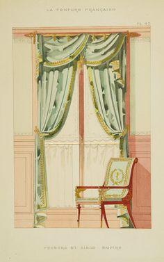 MATHIÉRE, G. -  Fenètre et siège empire. Paris, 1882