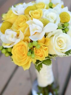 yellow wedding flower bouquet, bridal bouquet, yellow wedding flowers, add pic source on comment and we will update it. www.myfloweraffair.com