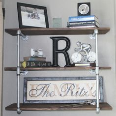 You can create such shelves for kitchens, hallways, bathroom or dining rooms.