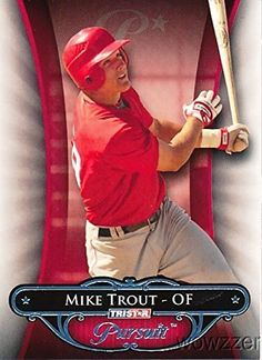 2010 Tristar Pursuit #10 Mike Trout ROOKIE MINT in Ultra Pro Snap Card Holder to Protect it! Rare Rookie Card of Los Angeles Angels MVP…