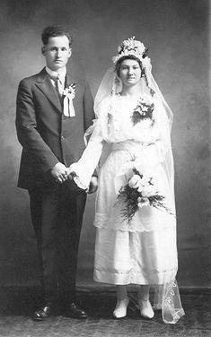 1920 wedding couple - married in Wilmot, Kansas
