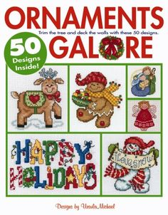 Ornaments Galore Cross Stitch 50 Designs Pattern Christmas Holiday by Ursula Michael 2006 Leisure Arts by WonderlandShoppe on Etsy Cross Stitch Christmas Ornaments, Xmas Cross Stitch, Cross Stitch Books, Cross Stitch Needles, Counted Cross Stitch Patterns, Cross Stitch Charts, Cross Stitch Designs, Cross Stitching, Cross Stitch Embroidery