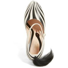 Women's Gucci 'Lesley' Zebra Stripe Pump ($1,290) ❤ liked on Polyvore featuring shoes, pumps, black and white zebra print shoes, real leather shoes, gucci shoes, white and black pumps and black and white pumps