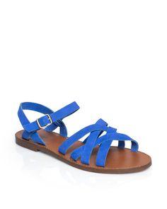 Bright blue sandals//