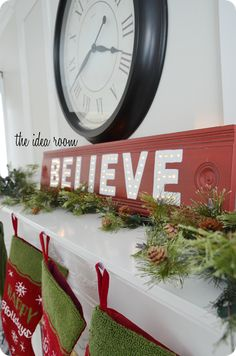 BELIEVE LIGHT UP SIGN  Letters made with the Silhouette  Cameo, so cute! TuTORIAL Included.