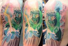 ... Pinterest | Green lantern tattoo Cherry blossoms and Colorful skulls