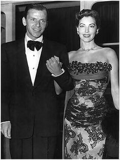 Frank Sinatra and Ava Gardner out on the town. Sinatra was married to Hollywood actress Ava Gardner from 1951 to Hollywood Couples, Hollywood Icons, Old Hollywood Glamour, Golden Age Of Hollywood, Vintage Hollywood, Celebrity Couples, Hollywood Stars, Classic Hollywood, Ava Gardner Frank Sinatra