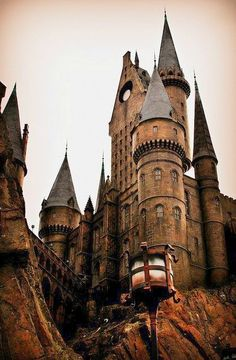 At the Hogwarts Castle in Universal Studios Hollywood in Los Angeles.