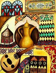 African Art Paintings, Islamic Paintings, Pop Art, Arabian Art, Islamic Art Calligraphy, Historical Art, Egyptian Art, Art Pictures, Folk