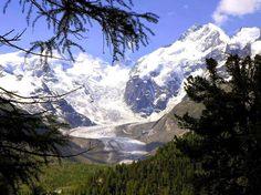 Piz Bernina Moteratsch Glacier, Engadine - Switzerland
