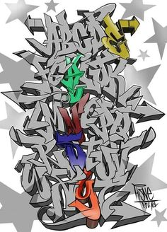 dibujar abecedario o letras en graffiti 2 Graffiti Art, Graffiti Piece, Graffiti Writing, Graffiti Tagging, Graffiti Wallpaper, Grafitti Letters, Graffiti Lettering Alphabet, Calligraphy Alphabet, Islamic Calligraphy