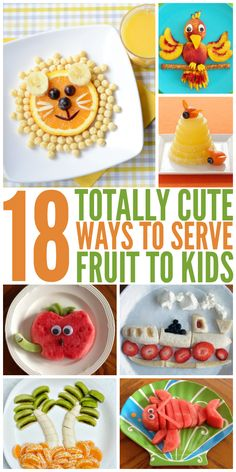 These kid- freindly fruit ideas are adorable! - One Crazy House
