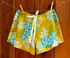 simple shorts tutorial-- I need a couple of pairs of breezy shorts this summer (probably use some old t-shirts for this and the serger!)