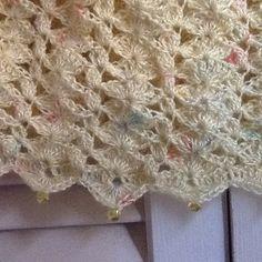 Unique summer caplet in soft yellow with crochet lace pattern by Mywaycrochet