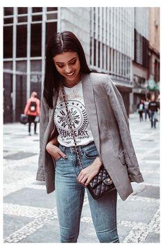 Blazer Jeans, Look Blazer, Outfit Jeans, Plaid Blazer, Casual Blazer, Casual Winter Outfits, Trendy Outfits, Spring Outfits, Outfit Winter